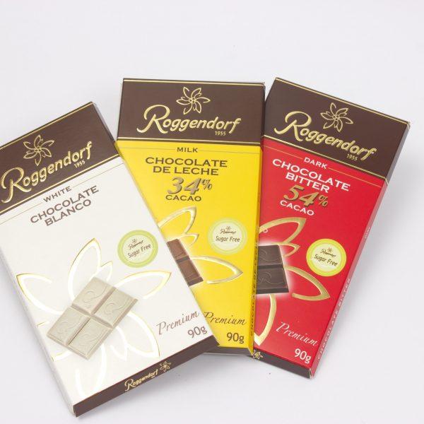 Barras de Chocolate sin Azúcar
